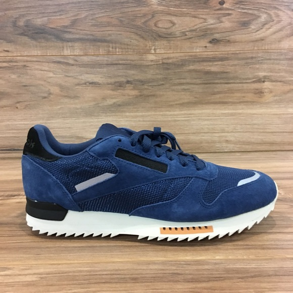 6a46d29a33f REEBOK CLASSIC CL LEATHER RIPPLE Washed Blue New